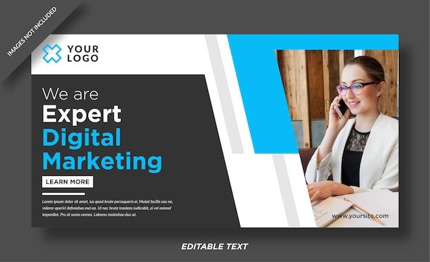 Plantilla de diseño de banner de experto en marketing digital Vector Premium