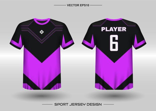Plantilla de diseño de camiseta deportiva para equipo de fútbol Vector Premium