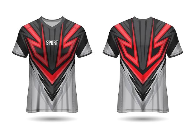 Plantilla de diseño de camiseta deportiva para uniformes de equipo Vector Premium