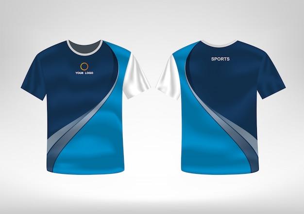 Plantilla de diseño de camiseta deportiva Vector Premium