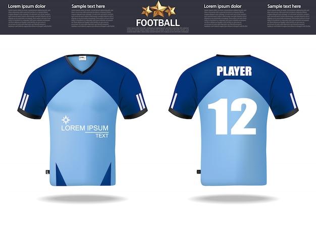 Plantilla de diseño de camisetas de fútbol para fútbol  ef948aca9ccf1