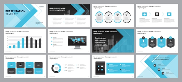 Plantilla de diseño de diseño de diapositiva de presentación comercial Vector Premium