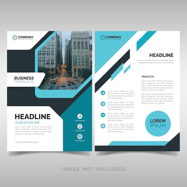 Plantilla de diseño de folleto de negocios Vector Premium