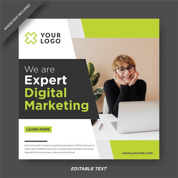 Plantilla de diseño de instagram experto en marketing digital Vector Premium
