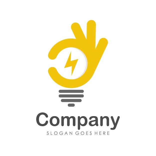 Plantilla de diseño de logotipo de buena energía Vector Premium