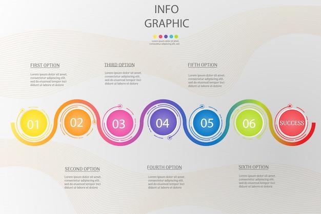 Plantilla de diseño de negocios círculo Vector Premium