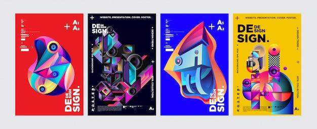 Plantilla de diseño de portada y cartel para revista. Vector Premium