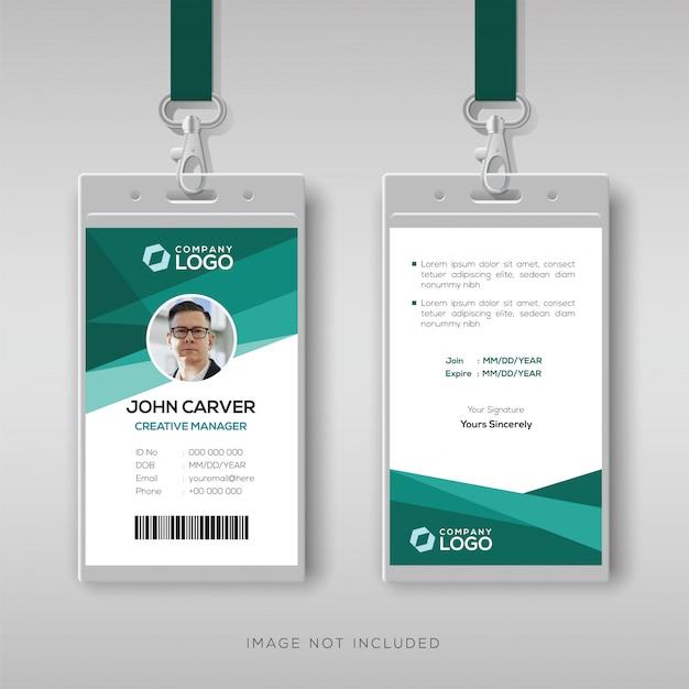 Plantilla de diseño de tarjeta de identificación elegante Vector Premium