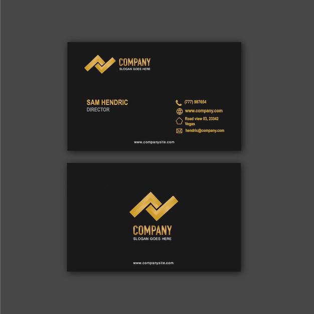 Plantilla de diseño de tarjeta de visita de empresa Vector Premium