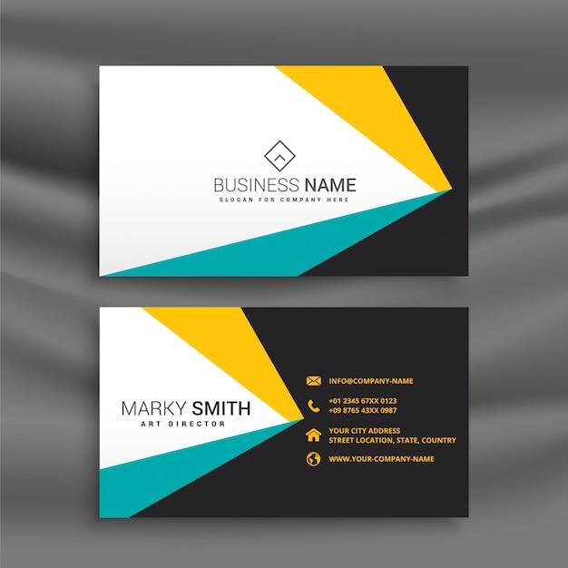 Plantilla de diseño de tarjeta de visita geométrica abstracta vector gratuito