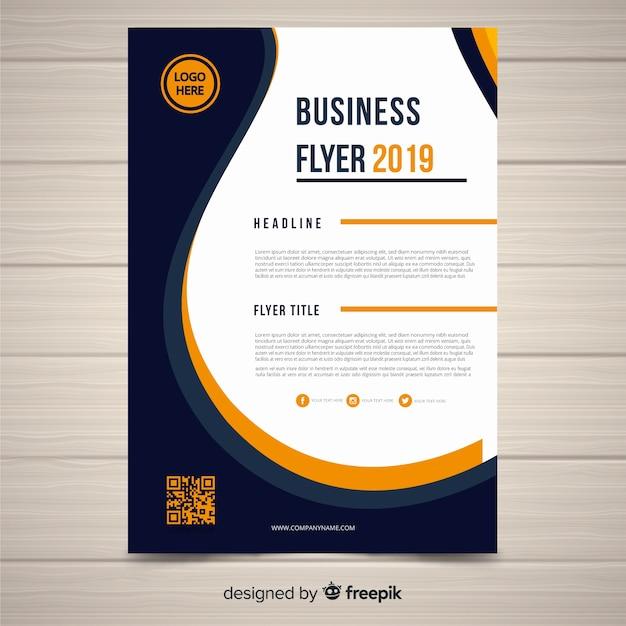 Plantilla de documento de negocios vector gratuito