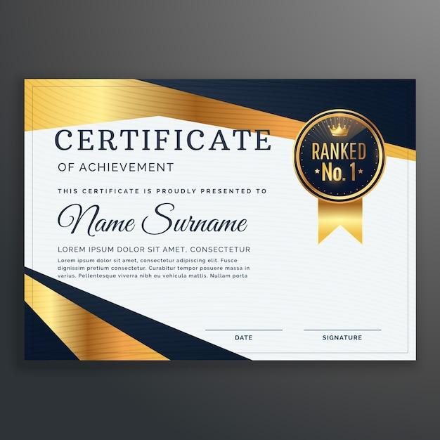 Plantilla elegante de lujo de certificado de logro | Descargar ...