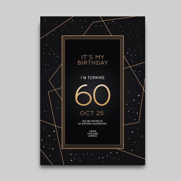 Plantilla elegante de invitación de cumpleaños vector gratuito