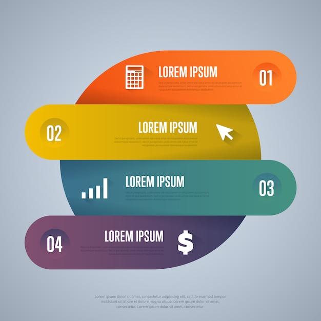 Plantilla de elementos de infografía Vector Premium