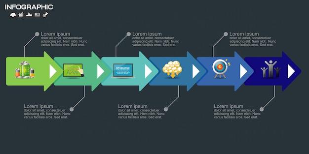 Plantilla de elementos de negocio infografía. Vector Premium