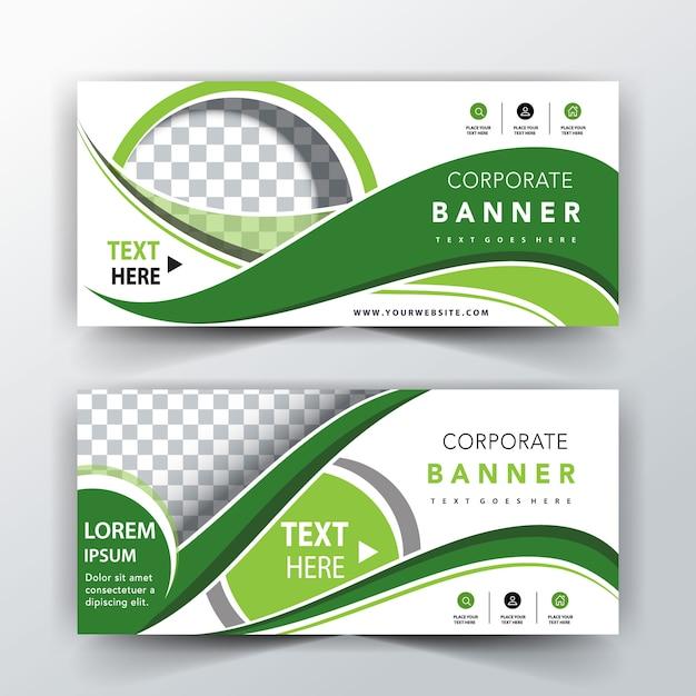 Plantilla de encabezado abstracto verde vector gratuito
