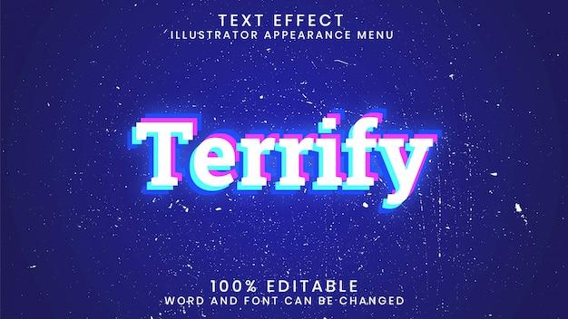 Plantilla de estilo de efecto de texto editable aterrorizante Vector Premium