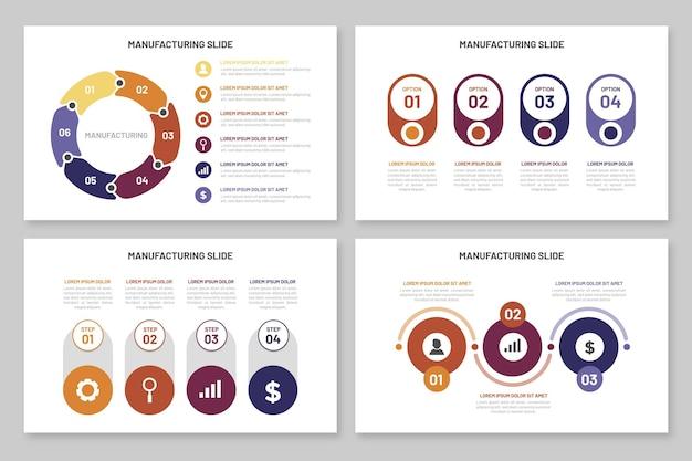 Plantilla de fabricación de infografías Vector Premium