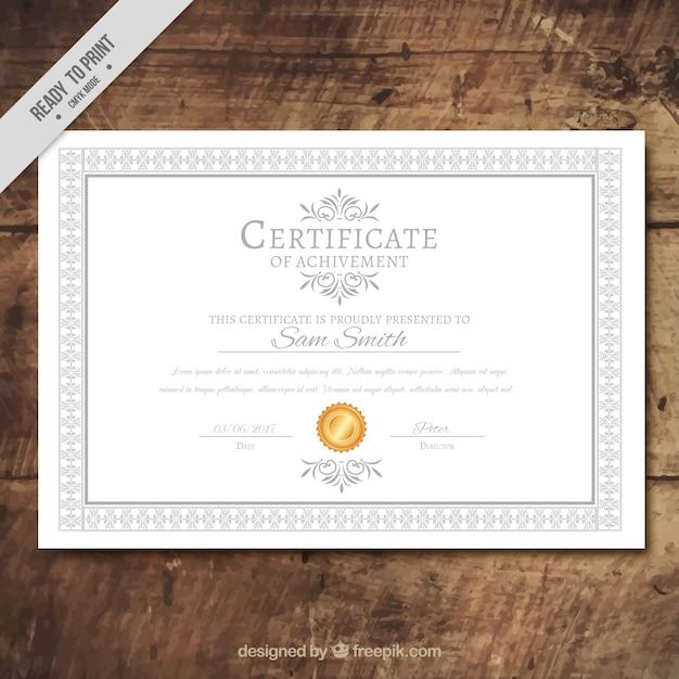 Plantilla fantástica de certificado de logros | Descargar Vectores ...