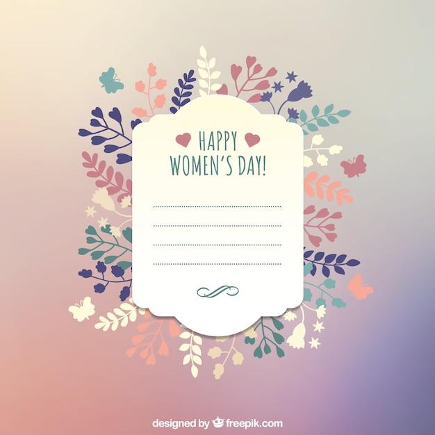 Plantilla Para Felicitación Del Día De La Mujer Vector Gratis
