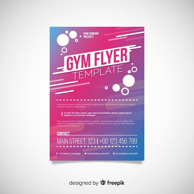Plantilla flyer gym vector gratuito