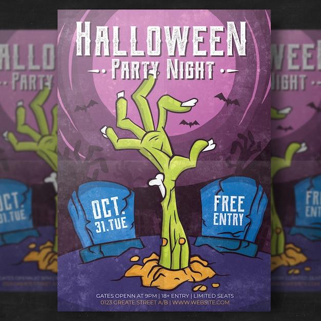 Plantilla flyer de halloween vector gratuito
