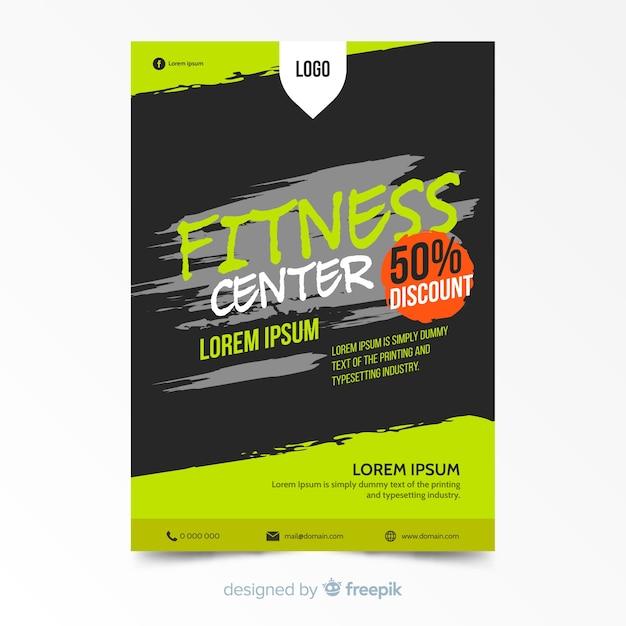 Plantilla de flyer hermoso de fitness vector gratuito