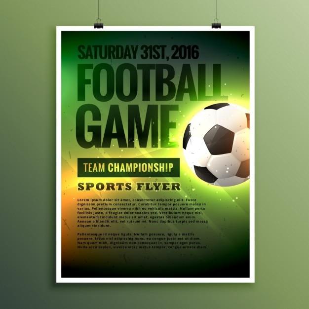 Plantilla De Flyer De Juego De Futbol Descargar Vectores Gratis