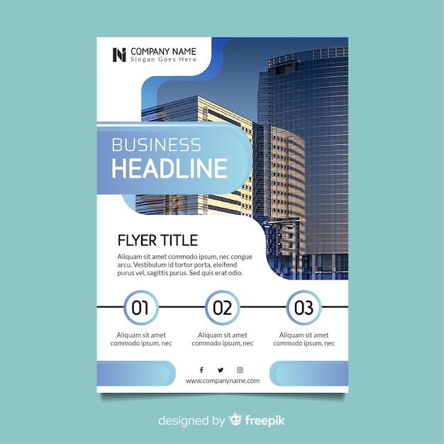 Plantilla de flyer para negocio vector gratuito