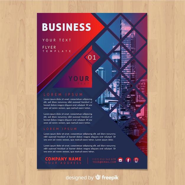 Plantilla de flyer de negocios vector gratuito