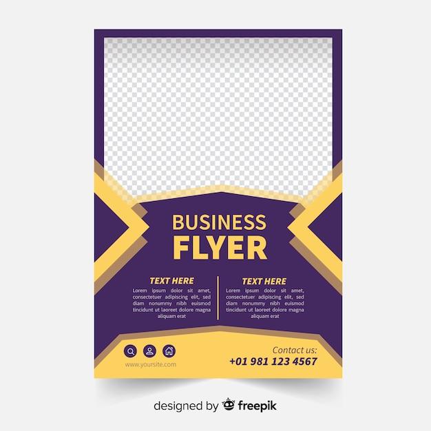 Plantilla de flyer para negocios vector gratuito