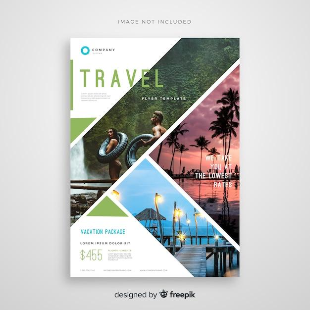 Plantilla de flyer de viaje vector gratuito