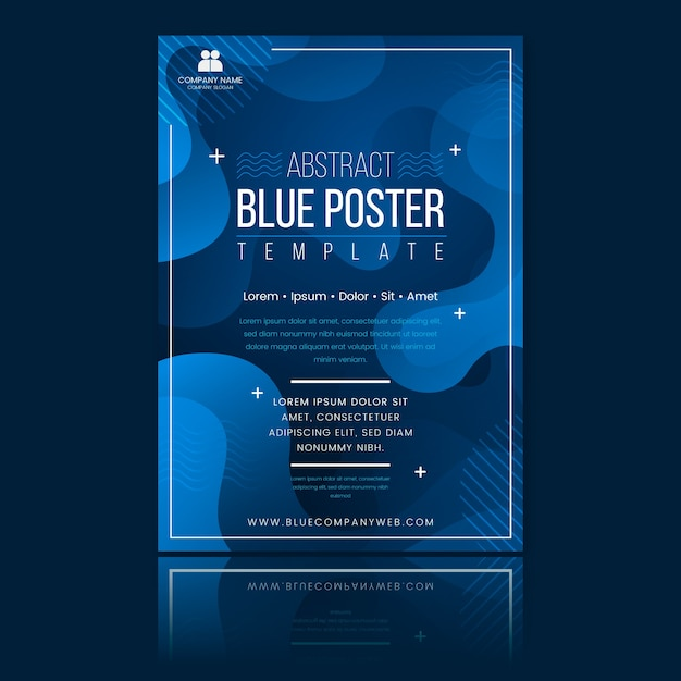 Plantilla de folleto azul clásico abstracto vector gratuito