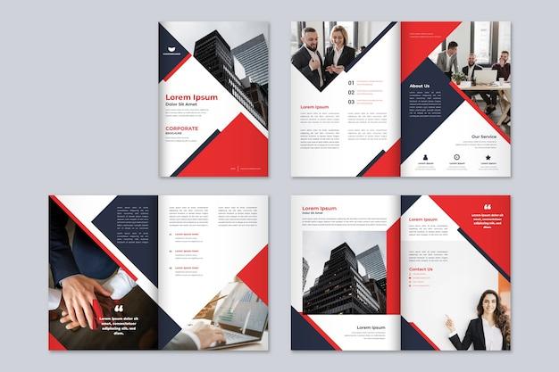 Plantilla de folleto comercial moderno Vector Premium
