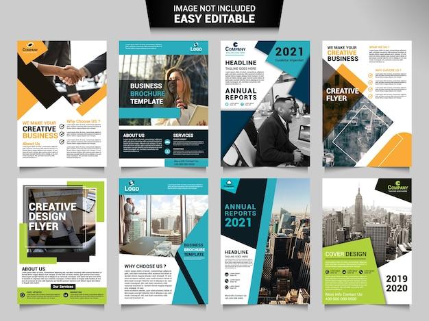 Plantilla de folleto corporativo Vector Premium