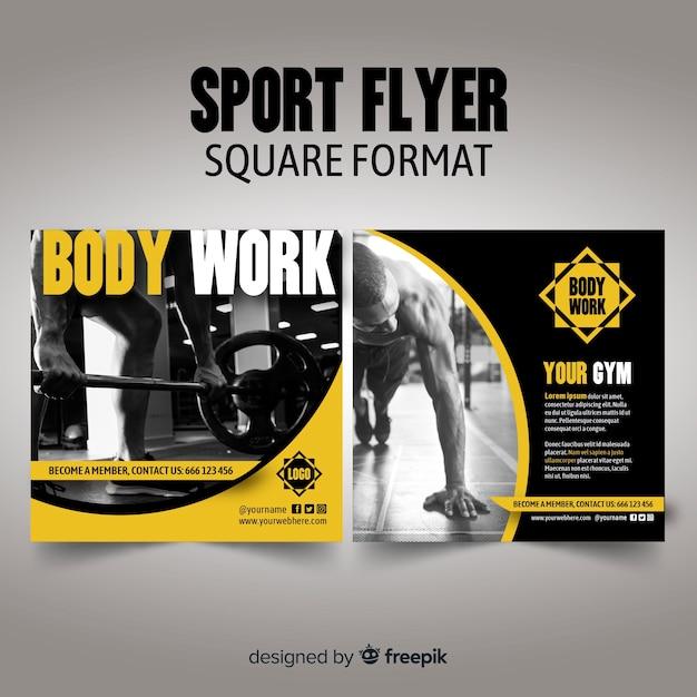 Plantilla de folleto deportivo vector gratuito