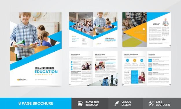 Plantilla de folleto - empresa educativa Vector Premium