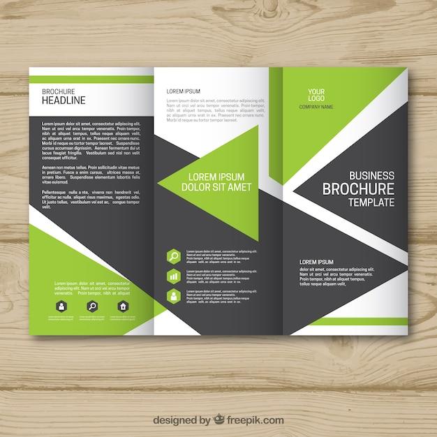 13da57fa8cfa1 Plantilla de folleto geométrico de negocios tríptico