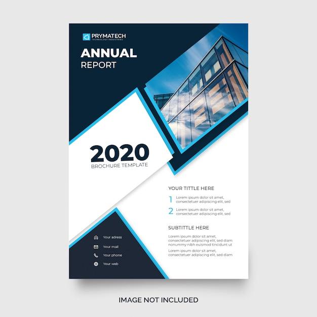 Plantilla de folleto - informe anual azul moderno vector gratuito