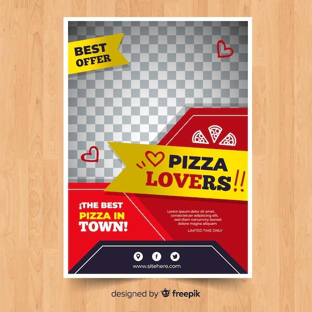 Plantilla de folleto moderno de pizzería vector gratuito