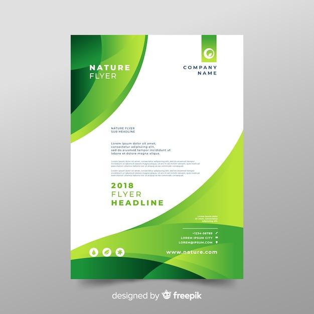 Plantilla de folleto de naturaleza con diseño moderno Vector Premium