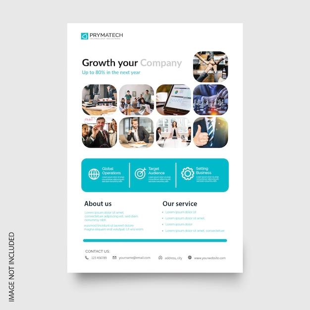 Plantilla de folleto - negocio moderno vector gratuito