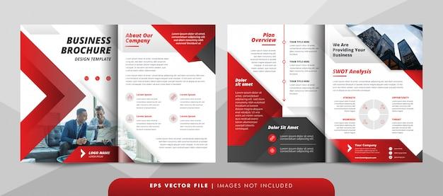 Plantilla de folleto de negocios corporativos creativos. Vector Premium