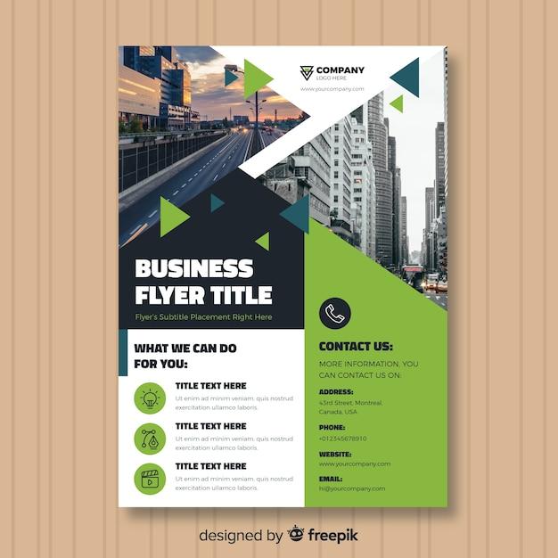 Plantilla de folleto de negocios vector gratuito