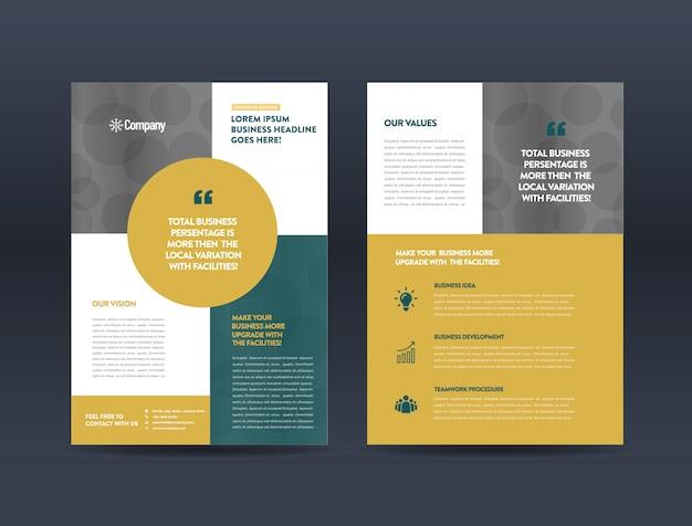 Plantilla de folleto de publicidad Vector Premium