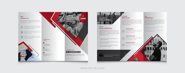 Plantilla de folleto tríptico de negocios creativos Vector Premium