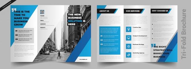 Plantilla de folleto - tríptico Vector Premium