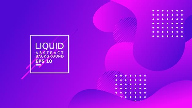 Plantilla de fondo abstracto líquido. color púrpura. Vector Premium