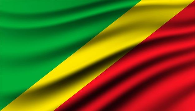 Plantilla De Fondo De Bandera De La República Del Congo Vector Premium