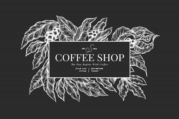 Plantilla de fondo café Vector Premium